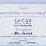2008 I.M.C.A.S. International Master Course on Aging Skin Paris, France