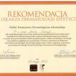 2013 Rekomendacja Polskiego Towrzystwa Deramtologicznego