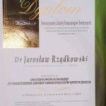 2009 Dyplom uczestnictwa w Urodzinowym Kongresie Stowarzyszenia Lekarzy Dermatologów Estetycznych
