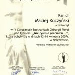 2007 IV Coroczne Spotkania Chirurgii Piersi w Nałęczowie