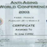 2003 Anti-Aging World Conference Paris, France