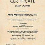 2011 Dr Aneta Majchrzak-Habryka - Asclepion laser course
