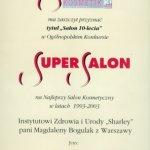 Najlepszy Salon Kosmetyczny w latach 1993-2003