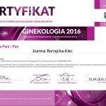 2016 lek. med. Joanna Borzęcka-Klec - ginekologia