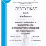 Certyfikat dr. J. Kunkiewicz