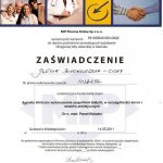 2011 Kurs: Aspekty kliniczne wykonywania uzupełnień stałych , w szczególności koron i mostów protetycznych