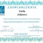 2011 Dr Emilia Sitkiewicz - kurs z zakresu ultrasonografii