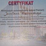 2011 Certyfikat uczestnictwa w konferencji