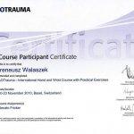 2010 Course Certificate Participant dla Ireneusz Walaszek