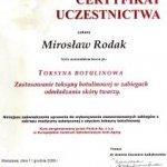 Uczestnictwo w kursie pt.: Toksyna botulinowa