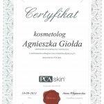 2013 Agnieszka Giołda - kurs PCA Skin