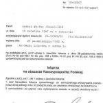 1992 Maciej Charaziński - uprawnienie do wykonywania zawodu na obszarze RP