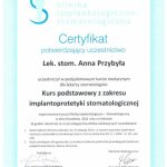 2011 Kurs podstawowy z zakresu implantolprotetyki stomatologicznej