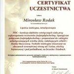 2006 Uczestnictwo w kursie pt.: Lipoliza iniekcyjna, intralipoterapia