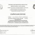 2010 Dr Aneta Majchrzak-Habryka - Kongres Medycyny Estetycznej i Anti-aging