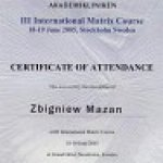 2005 III International Matrix Course