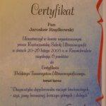 2005 Certyfikat uczestnictwa w kursie