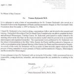 2000 A letter of recommendation for Dr. Tomasz Dydymski