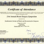 2007 23rd Annual Breast Surgery Symposium Southeastern Society of Plastic and Reconstructive Surgeons
