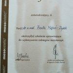 2004 Szkolenie z zabiegów mezoterapii