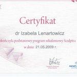 2009 Uczestnictwo w programie szkoleniowym Sculptra