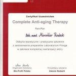 Uczestnictwo w szkoleniu z zastosowaniem preparatów Laboratorium Filorga w zakresie kompletnej rewitalizacji skóry