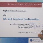 2003 Dyplom ukończenia warsztatów skleroterapii