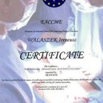 2010 Certificate EACCME: Ireneusz Walaszek