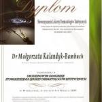 2009 Uczestnictwo w Urodzinowym Kongresie Stowarzyszenia Lekarzy Dermatologów Estetycznych