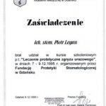 1995 Leczenie protetyczne zgryzu urazowego