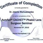 2010 Phakic Lens Surgeon Seminar