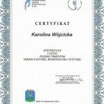 2005 Certyfikat uczestnictwa w X Zjeździe Polskiego Towarzystwa Chirurgii Plastycznej, Rekonstrukcyjnej i Estetycznej