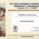 2009 VIII Zjazd Polskiego Towarzystwa Menopauzy i Andropauzy