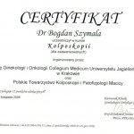 2008 Dr Bogdan Szymala - kurs kolposkopii dla zaawansowanych