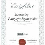 2013 Patrycja Szymańska - kurs PCA Skin