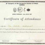 1997 Certificate of Attendance in 8th Congress of the European Section of IPRAS ESPRAS