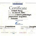 2007 Certyfikat szkolenia: Grzegorz Mocny