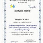 2001 Dr Małgorzata Kocot - Alergologia