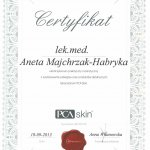 2013 Dr Aneta Majchrzak-Habryka - PCA Skin