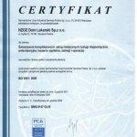 2008 Certyfikat ISO 9001 dla Dom Lekarski