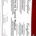certyfikat Aethoxysklerol - dr Krzysztof Aksędowski