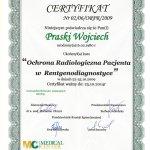 2014 Uczestnictwo w kursie pt.: Ochrona Radiologiczna Pacjenta w Renrgenodiagnostyce