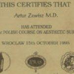 1995 The 1st Polish Course on Aestheatic Surgery Wrocław
