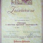 1992 Zaświadczenie uczestnictwa w kursie