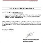 2009 Certificate of Attendance: Ireneusz Walaszek