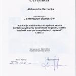 2012 Aplikacja stabilnokształtnych soczewek
