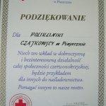 2000 Podziękowanie Polskiego Czerwonego Krzyża