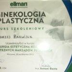 2012 Certyfikat uczestnictwa w kursie:
