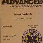 2000 Certyfikat uczestnictwa w kursie